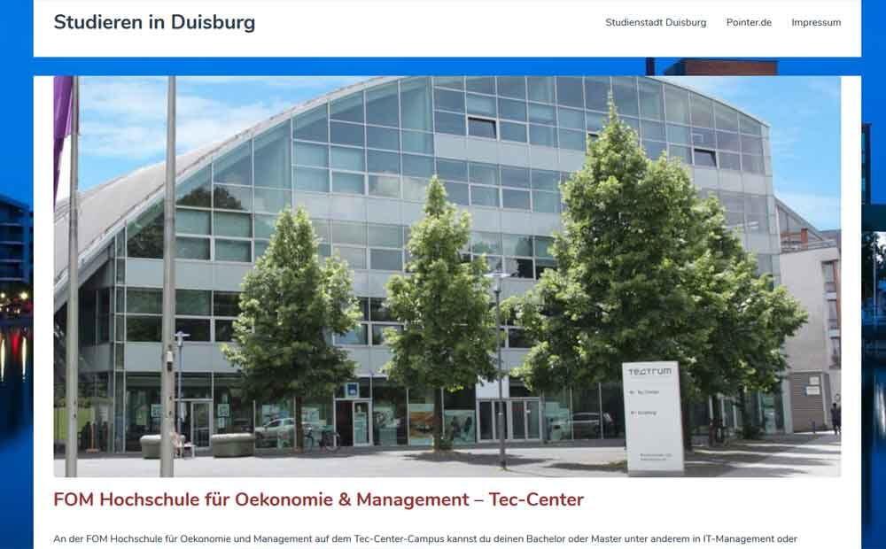 Studieren in Duisburg